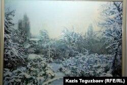 """Картина Анары Абжановой """"Зимнее настроение""""."""