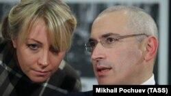 Ольга Писпанен и Михаил Ходорковский