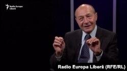 Traian Băsescu în studioul Europei Libere la Chișinău