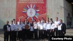 Мандолински оркестар Скопје на Меѓународниот фестивал на словенска музика во Москва.