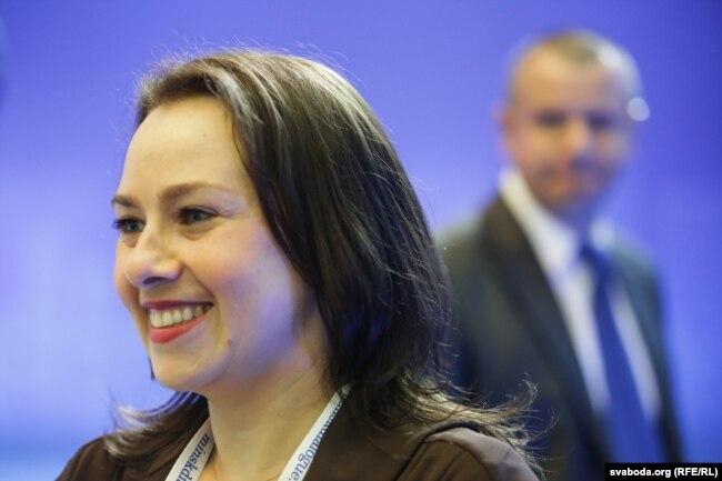 Ганна Канапацкая на форуме «Менскі дыялёг». 2018 год.