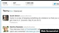 Scott Simonun Twitter hesabı