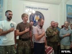 Під час відкриття платформи допомоги бійцям АТО, Київ, 4 вересня 2015 року