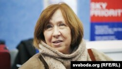 Лауреат Нобелівської премії з літератури, білоруська письменниця і публіцист Світлана Алексієвич