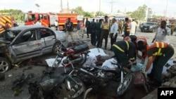 Место взрыва в Лахоре. 24 июля 2017 года.