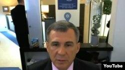 Рөстәм Миңнеханов Давоста әңгәмә бирә