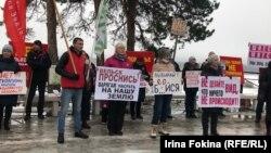 Митинг в защиту Шиеса в городе Вельск Архангельской области