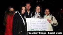 La o demonstrație a românilor de la München în 2015