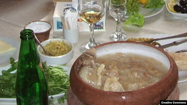 The traditional khash soup is another dish whose
