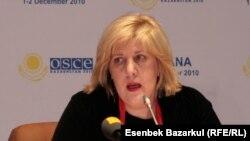 ЕҚЫҰ-ның БАҚ бостандығы жөніндегі өкілі Дунья Миятович. Астана, 26 қараша 2010 жыл