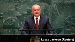 U.S. - Moldova's President Igor Dodon addresses the 74th session of the United Nations General Assembly at U.N. headquarters in New York City, New York, U.S., September 26, 2019