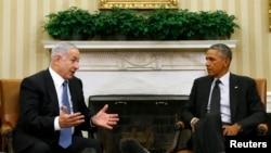 بنیامین نتانیاهو (چپ) در دیدار با باراک اوباما در واشینگتن