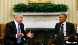 Президент США Барак Обама та прем'єр-міністр Ізраїлю Беньямін Нетаньяха, Білий дім, 1 жовтня 2014 року