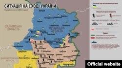 Situaţia teritoriilor din estul Ucrainei la data de 24 iunie 2014