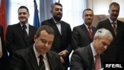Lideri DS-a i SPS-a Boris Tadić i Ivica Dačić.