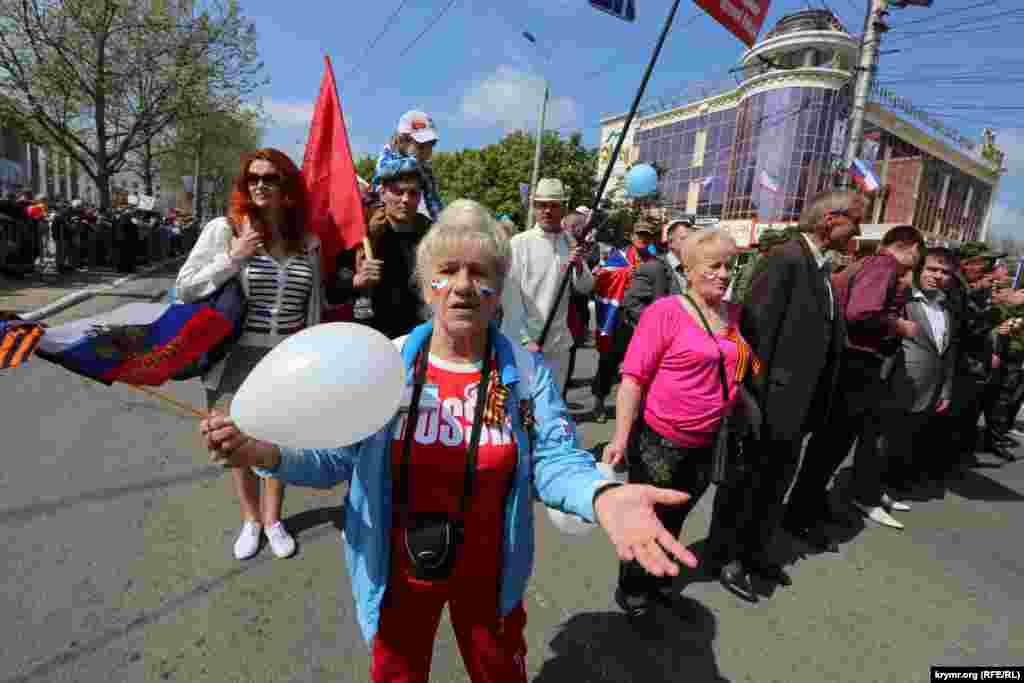Первомайская демонстрация в Симферополе, 1 мая 2015 года