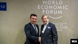 Makedonski premijer Zoran Zaev i Johannes Hahn