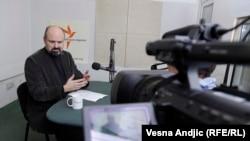 Bruno Vekarić u beogradskom studiju RSE