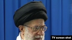 Supreme Leader Ayatollah Ali Khamenei at Friday Prayers in Tehran on September 11.