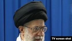 Supreme Leader Ayatollah Ali Khamenei at Friday Prayers in Tehran on September 11.