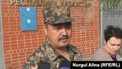 Серікхан Абселемов, Петропавлдағы Ұлттыұ ұлан әскери институтының басшысы. 8 қыркүйек 2017 жыл.