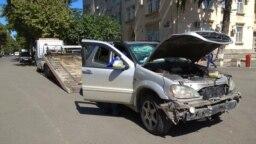 Georgia -- Car crash in Rustavi, 12Sep2018