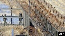 مرزبانان کره جنوبی در کنار مرز دو کره
