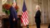 """აშშ-ის პრეზიდენტმა დონალდ ტრამპმა ექსკლუზიური ინტერვიუ მისცა """"ამერიკის ხმის"""" თანამშრომელს, ჟურნალისტ გრეტა ვან სასტერენს."""