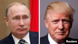 Russian President Vladimir Putin (left) and U.S. President Donald Trump (composite file photo)