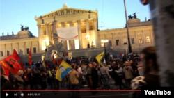 Kürdlər Vyanada bir neçə anti-Türkiyə nümayişi keçiriblər