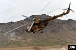 Helicopters are a key to warfare in mountainous Afghanistan.