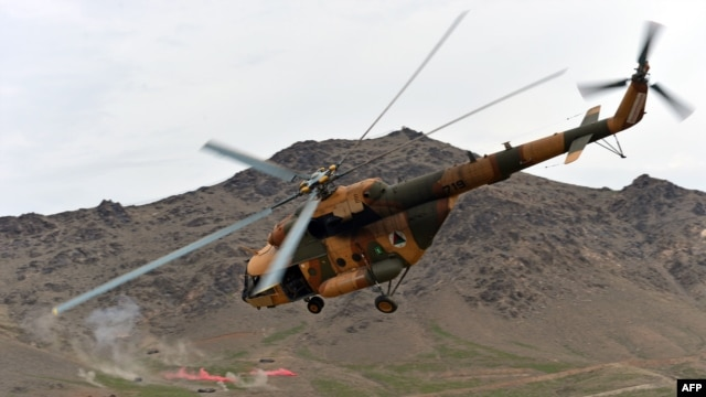 The U.S. government has been buying Mi-17 helicopters from Russia and refurbishing them to supply the Afghan National Army.
