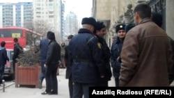 Ադրբեջան -- Ոստիկանությունը Բաքվի փողոցներում, 10-ը մարտի, 2011թ.