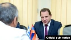 Armenia - First Deputy Defense Minister Davit Tonoyan, Yerevan, 8Oct2014.