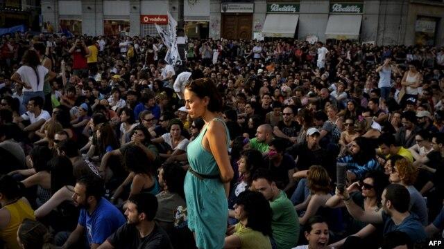 Акция протеста против экономической политики правительства и коррупции в Мадриде
