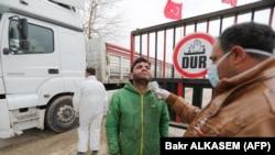 Туркия-Cурия чегарасидаги назорат-ўтказиш масканларидан бири.