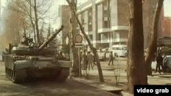 Душанбе в годы гражданской войны. Архивное фото.