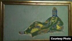 """""""Uyghur Girl"""" by Uzbek artist Chingiz Akhmarov (1912–1995)"""