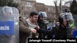 Задержание участника антиправительственной акции в Баку (архив)