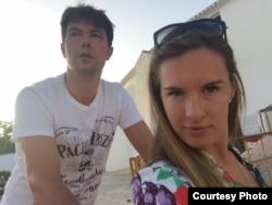 Мария Комиссарова с мужем Алексеем Чаадаевым
