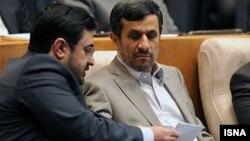 سعید مرتضوی در کنار محمود احمدی نژاد