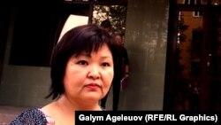 Мурдагы полициячынын адвокаты Жанара Балгабаева. 11-август, 2015-жыл, Алматы