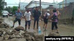 Последствия селя в Алматы