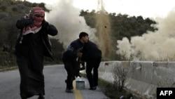 Сирияның қақтығыс жүріп жатқан Идлиб аймағы. 20 сәуір 2012 жыл.
