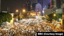 Ночь с 29 на 30 сентября в центре Гонконга