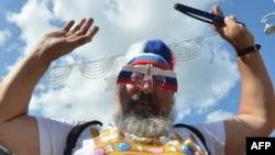 Болельщик сборной России в Киеве на Евро-2012. 12 июня 2012 г