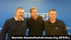 Юрій Береза, Володимир Парасюк, Семен Семенченко (зліва направо)
