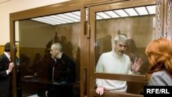 Михаил Ходорковский и Платон Лебедев в Хамовническом суде