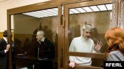 Михаил Ходорковский и Платон Лебедев в суде