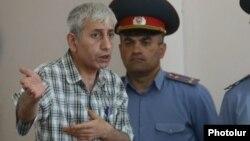 Armenia - Anti-government activist Shant Harutiunian speaks at his trial in Yerevan, 25Jun2014.